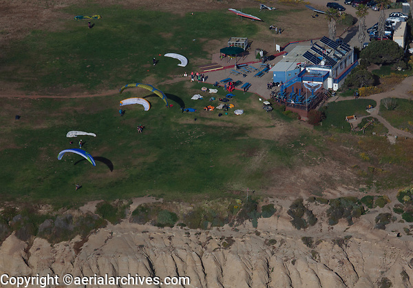 aerial photograph of the Torrey Pines Gliderport (CA84), La Jolla, San Diego, County, California