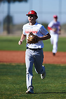 David Balague (43), from San Bruno, California, while playing for the Nationals during the Under Armour Baseball Factory Recruiting Classic at Red Mountain Baseball Complex on December 28, 2017 in Mesa, Arizona. (Zachary Lucy/Four Seam Images)