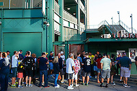 BOSTON, MASS. - SEPT. 28, 2014: People wait for the 9 and 10am tours of Fenway Park before the New York Yankees and Boston Red Sox play at Fenway Park. The game is last game of Derek Jeter's career. M. Scott Brauer for The New York Times