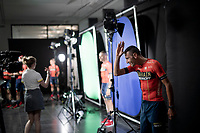 Vincenzo Nibali aka 'The Shark of Messina'  (ITA/Bahrain-Merida) having his official portrait taken ahead of the 'Grand Départ'<br /> <br /> Official 106th Tour de France 2019 Teams Presentation at the Central Square (Grote Markt) in Brussels (Belgium)<br /> <br /> ©kramon
