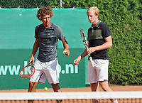 August 13, 2014, Netherlands, Raalte, TV Ramele, Tennis, National Championships, NRTK,  Mens doubles: Sebastiaan Bonapart/Botic van de Zandschulp (NED)<br /> Photo: Tennisimages/Henk Koster