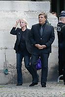Jean-Pierre Foucault - ObsËques de MIREILLE DARC en l'Èglise Saint-Sulpice - 01/09/2017 - Paris, France