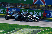 6th September 2020; Autodromo Nazionale Monza, Monza, Italy ; Formula 1 Grand Prix of Italy, Race Day;  44 Lewis Hamilton GBR, Mercedes-AMG Petronas Formula One Team, 8 Romain Grosjean FRA, Haas F1 Team