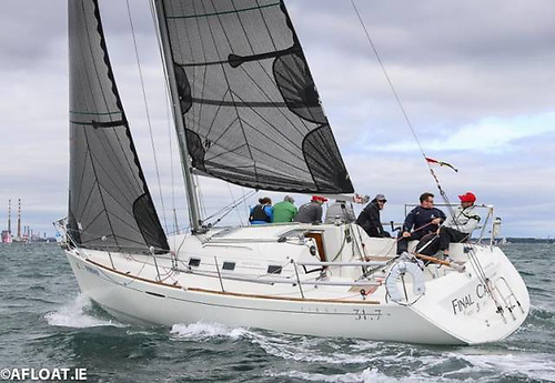 Final Call racing in the First 31.7 Class in the Volvo Dun Laoghaire Regatta 2019, when she finished second overall in a class of 14 boats. Photo: Afloat.ie/David O'Brien