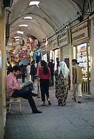 Tunisia.  Tunis Medina.  Souk Street Scene, Jewelry Souk.