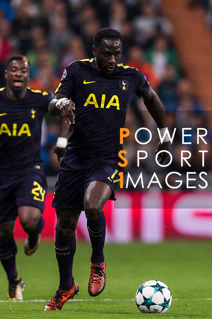 Moussa Sissoko of Tottenham Hotspur FC in action during the UEFA Champions League 2017-18 match between Real Madrid and Tottenham Hotspur FC at Estadio Santiago Bernabeu on 17 October 2017 in Madrid, Spain. Photo by Diego Gonzalez / Power Sport Images