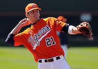 Clemson infielder Matt Sanders (21) prior to a game between the Clemson Tigers and Mercer Bears on Feb. 23, 2008, at Doug Kingsmore Stadium in Clemson, S.C. Photo by: Tom Priddy/Four Seam Images