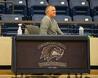 Rick Katzfey of KNWA weather announcing game at Wolverine Arena, Centerton,  AR, Tuesday, January 12, 2021 / Special to NWA Democrat-Gazette/ David Beach