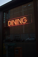 Neon Dining sign<br />