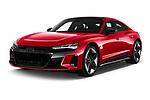 2021 Audi e-tron-GT RS 4 Door Sedan Angular Front automotive stock photos of front three quarter view