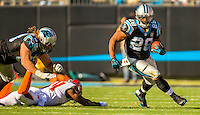 Sports action photography of the Carolina Panthers against the Tampa Bay Bucs during their NFL game at Bank of America Stadium in Charlotte, North Carolina.  <br /> <br /> Charlotte Photographer - Patrick SchneiderPhoto.com