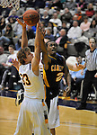 13 December 2008: Frank Turner of Canisius slices between two Albany defenders during a game between Canisius and Albany won by Albany 74-46 at SEFCU Arena in Albany, New York.