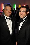 David Ruiz and Stephan Farber at the Men of Menil reception at Richmond Hall Thursday March 08,2012. (Dave Rossman Photo)