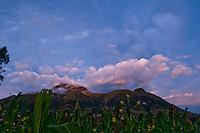 Imbarbura Volcano, near Otavalo, Ecuador, just after sunset.