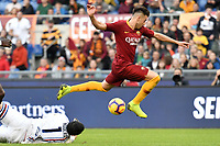 Emil Audero of Sampdoria tries to challenge Stephan El Shaarawy of AS Roma during the Serie A 2018/2019 football match between AS Roma and UC Sampdoria at stadio Olimpico, Roma, November, 11, 2018 <br />  Foto Andrea Staccioli / Insidefoto