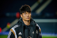 WEST BROMWICH, ENGLAND - FEBRUARY 11:  Ki Sung-Yueng of Swansea City walks  on the pitch prior to the Premier League match between West Bromwich Albion and Swansea City at The Hawthorns on February 11, 2015 in West Bromwich, England. (Photo by Athena Pictures/Getty Images)