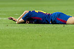 Jordi Alba Ramos of FC Barcelona lies injured on the pitch during the La Liga 2017-18 match between FC Barcelona and Real Madrid at Camp Nou on May 06 2018 in Barcelona, Spain. Photo by Vicens Gimenez / Power Sport Images