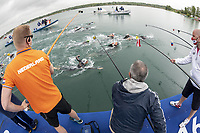 Bruni Rachele ITA (right, with glass)<br /> Open Water 10 Km women <br /> XXXV LEN European Aquatic Championships 2020<br /> Lupa Lake Budapest  - Hungary May 2021<br /> 20210513<br /> Photo Giorgio Scala / Deepbluemedia / Insidefoto<br /> DBM/LEN Reserved Rights <br /> Author must be mentioned when published<br /> Editorial/media use only
