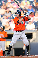 July 10th 2008:  Mike Rodriguez of the Bowie Baysox, Class-AA affiliate of the Baltimore Orioles, during a game at Canal Park in Akron, OH.  Photo by:  Mike Janes/Four Seam Images