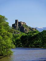 Festung Atskuri am Fluss Mtkavari - Kura, Samzche-Dschawacheti, Georgien, Europa<br /> FortressAtskuri at  river Mtkwari-Kura, Samzche-Dschawacheti,  Georgia, Europe