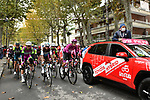 The start of Stage 13 of the 103rd edition of the Giro d'Italia 2020 running 192km from Cervia to Monselice, Italy. 16th October 2020.  <br /> Picture: LaPresse/Massimo Paolone | Cyclefile<br /> <br /> All photos usage must carry mandatory copyright credit (© Cyclefile | LaPresse/Massimo Paolone)