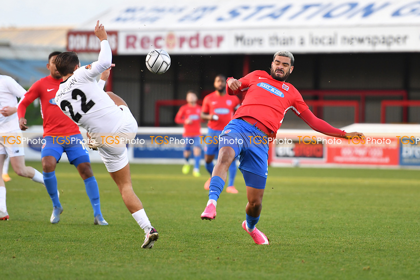 Paul McCallum of Dagenham and Redbridge FC during Dagenham & Redbridge vs Ebbsfleet United, Buildbase FA Trophy Football at the Chigwell Construction Stadium on 19th December 2020