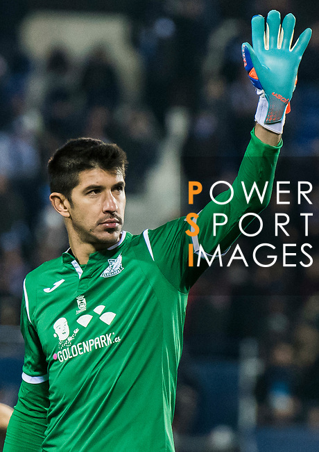 Goalkeeper Nereo Champagne of CD Leganes reacts during the Copa del Rey 2017-18 match between CD Leganes and Real Madrid at Estadio Municipal Butarque on 18 January 2018 in Leganes, Spain. Photo by Diego Gonzalez / Power Sport Images
