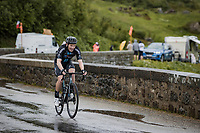 Soren Kragh Andersen (DEN/DSM) up the Cormet de Roselend<br /> <br /> Stage 9 from Cluses to Tignes (144.9km)<br /> 108th Tour de France 2021 (2.UWT)<br /> <br /> ©kramon