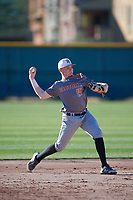 Kaden Dydalewicz (15) of Frisco High School in Frisco, Texas during the Baseball Factory All-America Pre-Season Tournament, powered by Under Armour, on January 13, 2018 at Sloan Park Complex in Mesa, Arizona.  (Mike Janes/Four Seam Images)