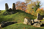 The Coldrum Stones a neolithic burial chamber Long Barrow and stone circle.  Trottiscliffe Kent UK.