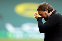 1st May 2021; Carrow Road, Norwich, Norfolk, England, English Football League Championship Football, Norwich versus Reading; Norwich City Manager Daniel Farke becomes emotional after winning the EFL championship