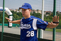 BASEBALL - GREEN ROLLER PARK - PRAGUE (CZECH REPUBLIC) - 25/06/2008 - PHOTO: CHRISTOPHE ELISE.GREGORY CROS  (TEAM FRANCE)