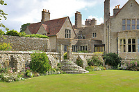 BNPS.co.uk (01202 558833)<br /> Pic: Savills/BNPS<br /> <br /> Pictured: The garden.<br /> <br /> A stunning historic castle with views across the Channel to France is on the market for £11m.<br /> <br /> Grade I Listed Lympne Castle dates back to the 13th century and hosted everyone from archbishops and prime ministers to celebrities including Mick Jagger and Sir Paul McCartney.<br /> <br /> The striking property in Hythe, Kent, has such incredible views it was used during the Second World War to spot V1 rockets in Calais on a clear day, allowing coastline guns to be ready to shoot down the rockets over Hythe Bay.<br /> <br /> The grand home, which has been run as a wedding and events venue for the past 20 years, is on the market with Savills.