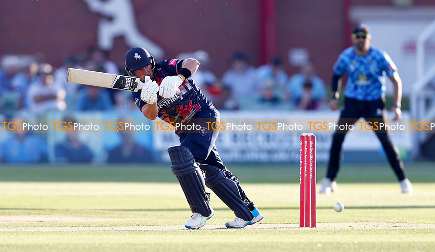 Harry Finch bats for Kent during Kent Spitfires vs Sussex Sharks, Vitality Blast T20 Cricket at The Spitfire Ground on 18th July 2021