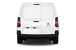 Straight rear view of 2016 Citroen Berlingo-Furgon Club-M 4 Door Car Van Rear View  stock images