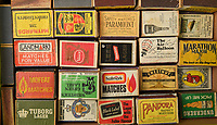 BNPS.co.uk (01202) 558833<br /> Pic: ZacharyCulpin/BNPS<br /> <br /> Pictured: The matchboxes donated to Philip Warren<br /> <br /> A master modeller who was inundated with hundreds of rare matchboxes after appealing for donations has used them to build a 3ft long aircraft carrier.<br /> <br /> Now Philip Warren has added the impressive model to his so-called matchbox fleet of miniature ships which have gone on display in an exhibition.<br /> <br /> Mr Warren's 72 year pastime of building model warships had looked as though it had come to an end earlier this year when he ran out of the traditional wooden boxes he used to make the hull and decks.<br /> <br /> But the 90-year-old was sent more than 300 of the lightweight matchboxes made from aspen wood in response to his plea for more.