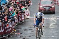 a disappointed former winner Zdenek Stybar (CZE/QuickStep Floors) crosses the finish line 4th<br /> <br /> 11th Strade Bianche 2017