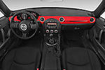 Stock photo of straight dashboard view of a 2015 Mazda MX-5 Miata Club Auto 2 Door Convertible Dashboard