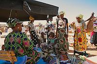 women group in market in Burkina Faso