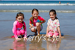 Enjoying the water on Banna beach on Saturday, l to r: Seoidín Dunne, Aideen and Leona Buckley from Glenflesk and Listowel.