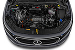Car Stock 2021 Mercedes Benz EQA 250-Business 5 Door SUV Engine  high angle detail view