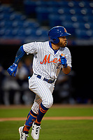 St. Lucie Mets Desmond Lindsay (2) runs to first base during a Florida State League game against the Florida Fire Frogs on April 12, 2019 at First Data Field in St. Lucie, Florida.  Florida defeated St. Lucie 10-7.  (Mike Janes/Four Seam Images)
