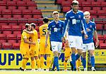 St Johnstone v Livingston….10.08.19      McDiarmid Park     SPFL <br />Scott Pittman celebrates his goal<br />Picture by Graeme Hart. <br />Copyright Perthshire Picture Agency<br />Tel: 01738 623350  Mobile: 07990 594431