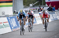 Wout van Aert (BEL/Jumbo-Visma) becomes 2nd & takes silver in a sprint against Marc Hirschi (SUI/Sunweb) & Michal Kwiatkowski (POL/Ineos Grenadiers)<br /> <br /> Men's Elite Road Race from Imola to Imola (258km)<br /> <br /> 87th UCI Road World Championships 2020 - ITT (WC)<br /> <br /> ©kramon