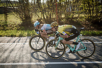 Wout Van Aert (BEL/Jumbo-Visma) & Oliver Naesen (BEL/AG2R - La Mondiale)<br /> <br /> 62nd E3 BinckBank Classic (Harelbeke) 2019 <br /> One day race (1.UWT) from Harelbeke to Harelbeke (204km)<br /> <br /> ©kramon
