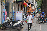 General and interesting street scenes in Ho Chi Minh City.<br /> Saigon or in Vietnamese Ho Chi Minh City street life where old and new architecture mix in harmony. The bustling Metropolis of South Vietnam.