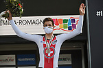 Bronze medal for Stefan Kung (SUI) finishing 3rd at the 31.7km Men Elite Time Trial of the 2020 UCI World Championships held around Imola, Italy. 25th September 2020.  <br /> Picture: Sirotti Stefano | Cyclefile<br /> <br /> All photos usage must carry mandatory copyright credit (© Cyclefile | Sirotti Stefano)