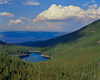 View of Strawberry Lake from Strawberry Mountain in the Strawberry Mountain Wilderness; Malheur National Forest, OR