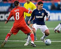 22 April 2009: Chivas USA forward Alecko Eskandarian #7 and Toronto FC forward Pablo Vitti #8 in action at BMO Field in Toronto in a MLS game between Chivas USA and Toronto FC..Toronto FC won 1-0.