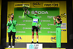 World Champion Julian Alaphilippe (FRA) Deceuninck-Quick Step wins solo Stage 1 and also wears the first points Green Jersey of the 2021 Tour de France, running 197.8km from Brest to Landerneau, France. 26th June 2021.  <br /> Picture: A.S.O./Pauline Ballet | Cyclefile<br /> <br /> All photos usage must carry mandatory copyright credit (© Cyclefile | A.S.O./Pauline Ballet)